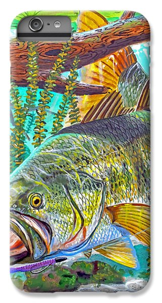 Largemouth Bass IPhone 6 Plus Case by Carey Chen