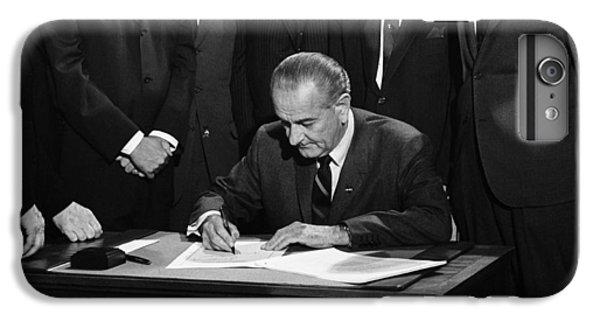 Lbj Signs Civil Rights Bill IPhone 6 Plus Case by Underwood Archives Warren Leffler