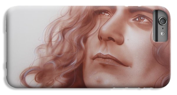 Robert Plant - ' Leaves Are Falling All Around ' IPhone 6 Plus Case by Christian Chapman Art