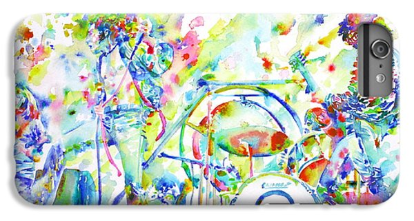 Led Zeppelin Live Concert - Watercolor Painting IPhone 6 Plus Case by Fabrizio Cassetta