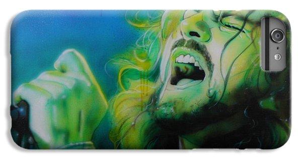 Eddie Vedder - ' Lemon Yellow Sun ' IPhone 6 Plus Case by Christian Chapman Art