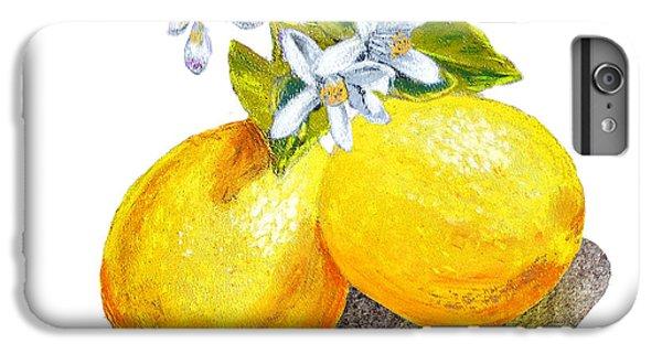 Lemons And Blossoms IPhone 6 Plus Case by Irina Sztukowski