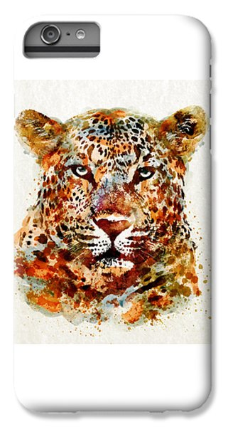 Leopard Head Watercolor IPhone 6 Plus Case by Marian Voicu