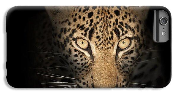Leopard In The Dark IPhone 6 Plus Case by Johan Swanepoel