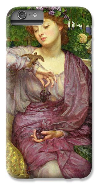 Lesbia And Her Sparrow IPhone 6 Plus Case by Sir Edward John Poynter