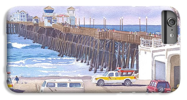 Lifeguard Trucks At Oceanside Pier IPhone 6 Plus Case by Mary Helmreich