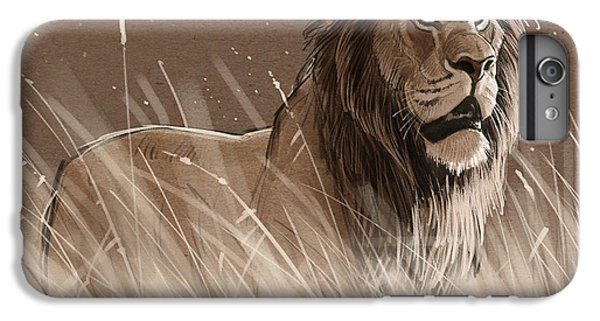 Lion In The Grass IPhone 6 Plus Case by Aaron Blaise