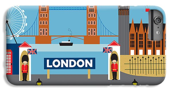 London England Skyline Style O-lon IPhone 6 Plus Case by Karen Young