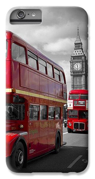 London Red Buses On Westminster Bridge IPhone 6 Plus Case by Melanie Viola