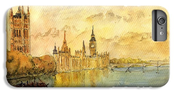 London Thames River IPhone 6 Plus Case by Juan  Bosco