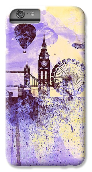 London Watercolor Skyline IPhone 6 Plus Case by Naxart Studio
