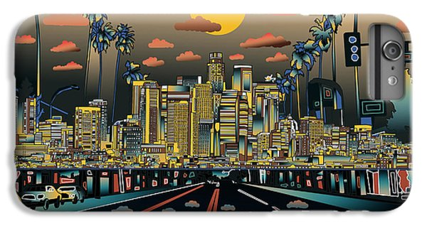 Los Angeles Skyline Abstract 2 IPhone 6 Plus Case by Bekim Art