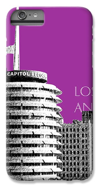 Los Angeles Skyline Capitol Records - Plum IPhone 6 Plus Case by DB Artist
