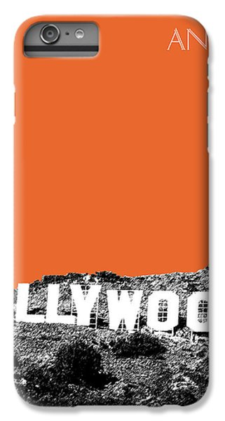 Los Angeles Skyline Hollywood - Coral IPhone 6 Plus Case by DB Artist