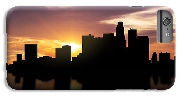 Los Angeles Sunset Skyline  IPhone 6 Plus Case by Aged Pixel