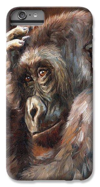 Lowland Gorilla IPhone 6 Plus Case by David Stribbling