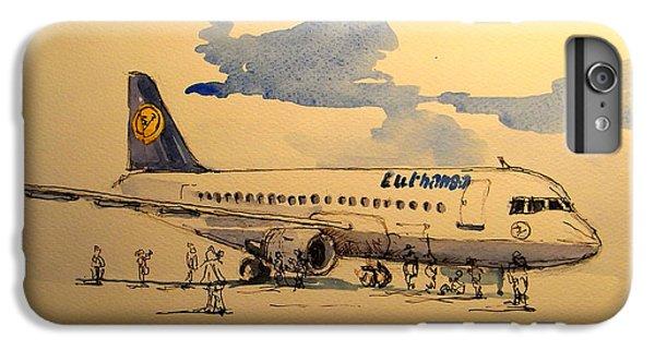Lufthansa Plane IPhone 6 Plus Case by Juan  Bosco