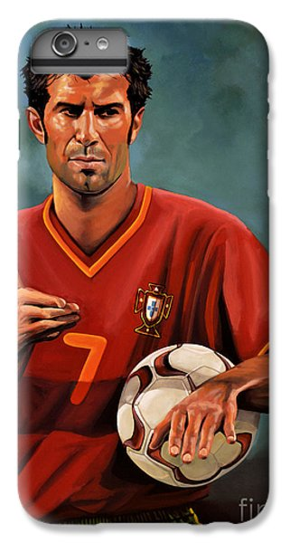 Luis Figo IPhone 6 Plus Case by Paul Meijering