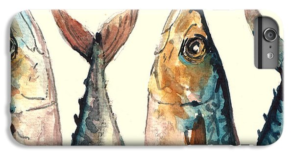 Mackerel Fishes IPhone 6 Plus Case by Juan  Bosco