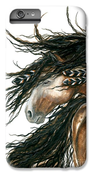 Majestic Pinto Horse 80 IPhone 6 Plus Case by AmyLyn Bihrle