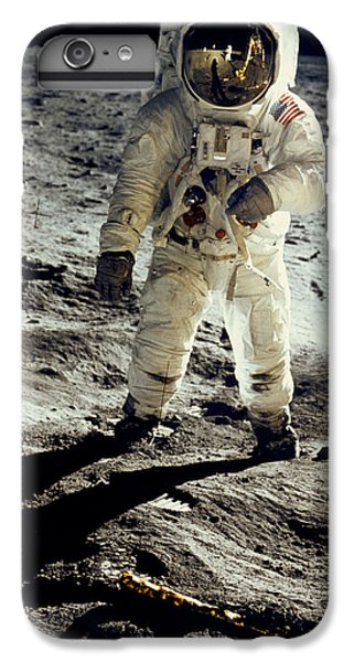 Man On The Moon IPhone 6 Plus Case by Neil Armstrong/Underwood Archive