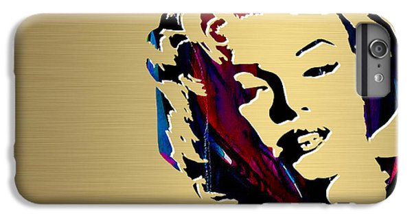 Marilyn Monroe Gold Series IPhone 6 Plus Case by Marvin Blaine