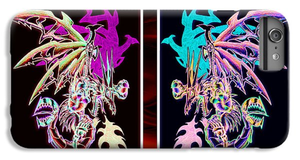 Mech Dragons Pastel IPhone 6 Plus Case by Shawn Dall