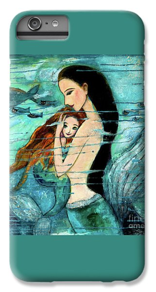 Mermaid Mother And Child IPhone 6 Plus Case by Shijun Munns