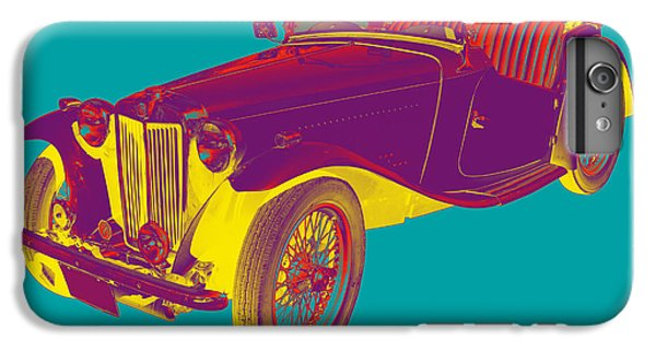 Mg Convertible Antique Car Pop Art IPhone 6 Plus Case by Keith Webber Jr