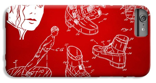 Michael Jackson Anti-gravity Shoe Patent Artwork Red IPhone 6 Plus Case by Nikki Marie Smith
