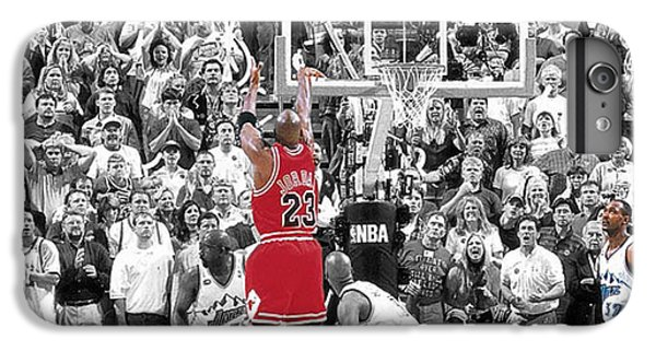 Michael Jordan Buzzer Beater IPhone 6 Plus Case by Brian Reaves