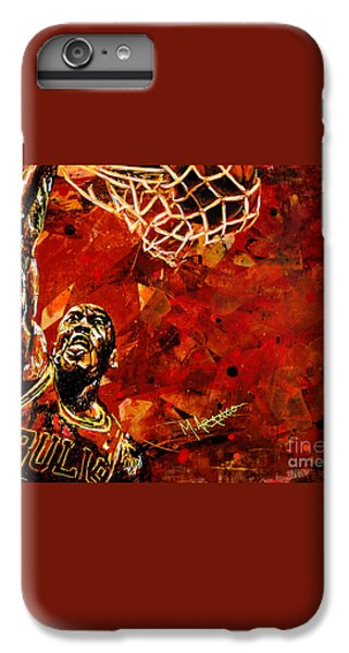 Michael Jordan IPhone 6 Plus Case by Maria Arango
