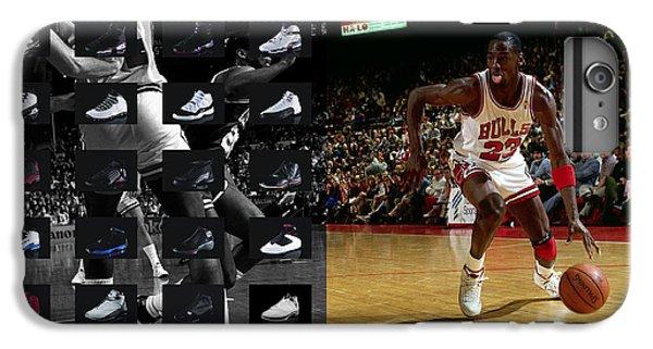 Michael Jordan Shoes IPhone 6 Plus Case by Joe Hamilton