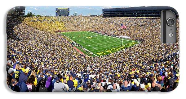 Michigan Stadium - Wolverines IPhone 6 Plus Case by Georgia Fowler