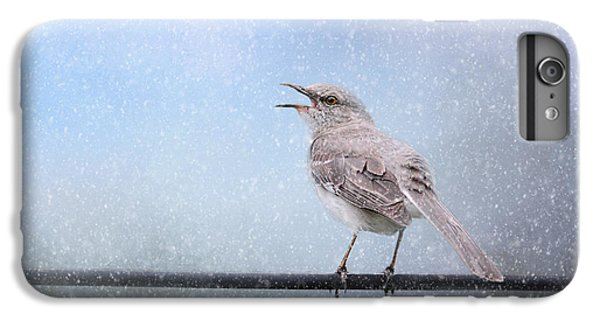 Mockingbird In The Snow IPhone 6 Plus Case by Jai Johnson