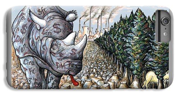 Money Against Nature - Cartoon Art IPhone 6 Plus Case by Art America Online Gallery