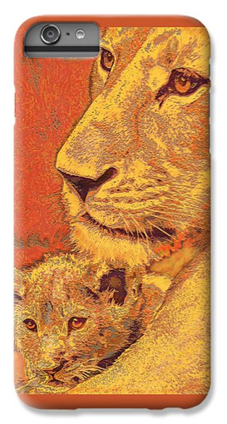 Mother And Cub IPhone 6 Plus Case by Jane Schnetlage