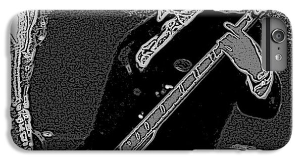 Bass Player Art Bw IPhone 6 Plus Case by Lesa Fine