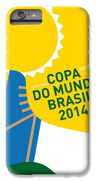 My 2014 World Cup Soccer Brazil - Rio Minimal Poster IPhone 6 Plus Case by Chungkong Art