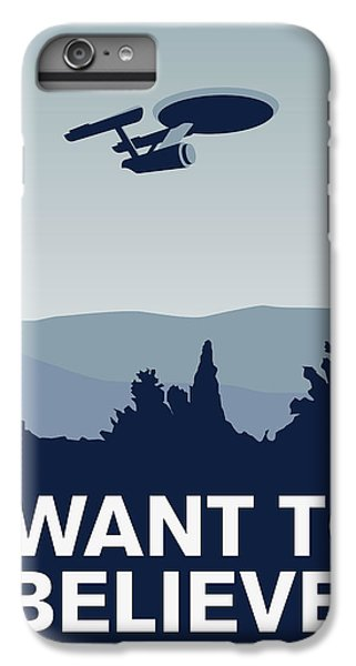 My I Want To Believe Minimal Poster-enterprice IPhone 6 Plus Case by Chungkong Art