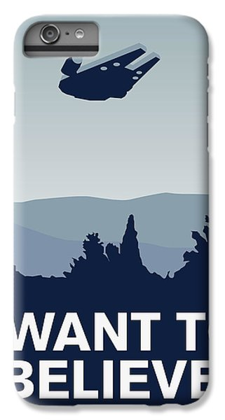 My I Want To Believe Minimal Poster-millennium Falcon IPhone 6 Plus Case by Chungkong Art