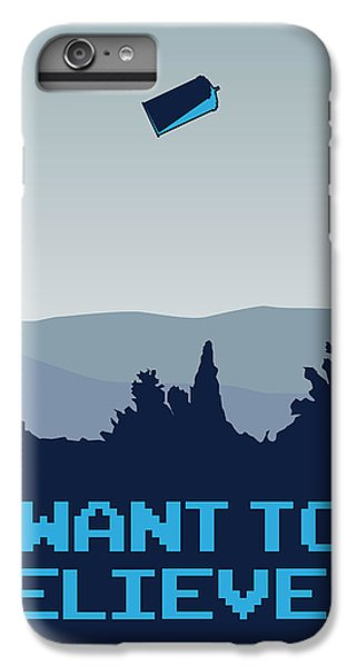 My I Want To Believe Minimal Poster- Tardis IPhone 6 Plus Case by Chungkong Art