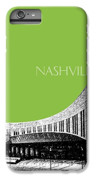 Nashville Skyline Country Music Hall Of Fame - Olive IPhone 6 Plus Case by DB Artist
