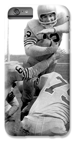 Navy Quarterback Staubach IPhone 6 Plus Case by Underwood Archives