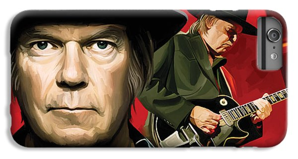 Neil Young Artwork IPhone 6 Plus Case by Sheraz A
