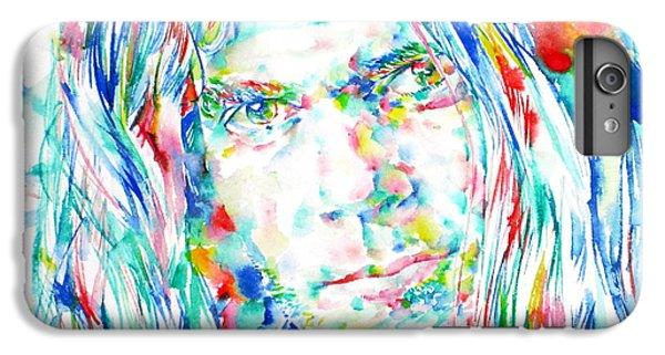 Neil Young - Watercolor Portrait IPhone 6 Plus Case by Fabrizio Cassetta