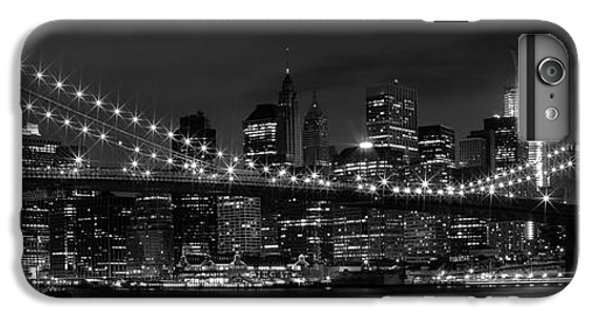 Night-skyline New York City Bw IPhone 6 Plus Case by Melanie Viola