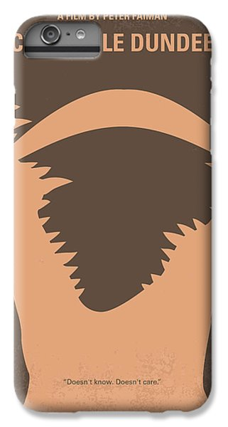 No210 My Crocodile Dundee Minimal Movie Poster IPhone 6 Plus Case by Chungkong Art