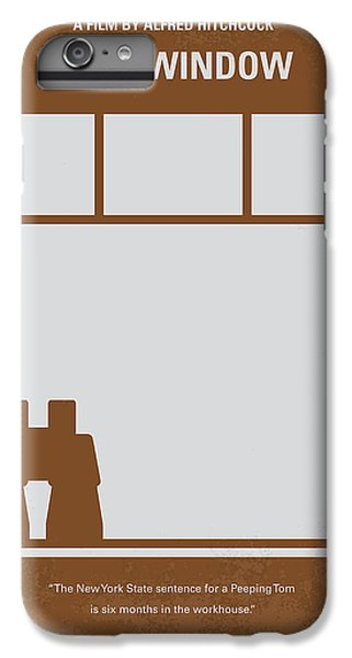 No238 My Rear Window Minimal Movie Poster IPhone 6 Plus Case by Chungkong Art