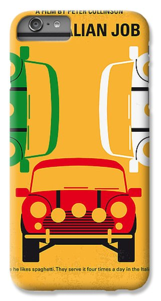 No279 My The Italian Job Minimal Movie Poster IPhone 6 Plus Case by Chungkong Art